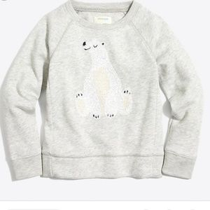 J Crew Crewcuts Sequin Polar Bear Sweatshirt